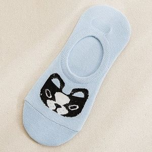 *BELLONA* Blue Puppy Design Low-Cut Cotton Socks